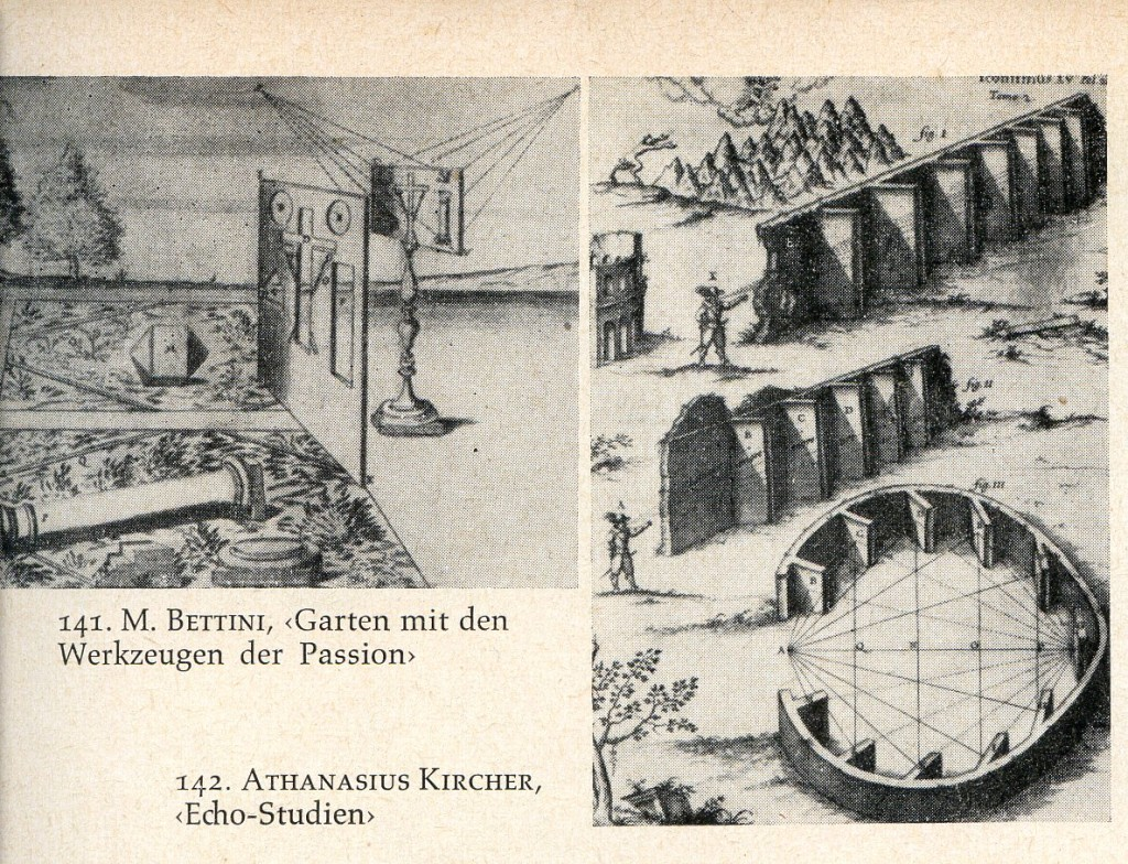 M.Bettini <Garten mit den Werkzeugen der Passion>, Athanasius Kircher <Echo-Studien>
